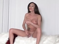 Watch the Behind the Scenes as Mia Gets Horny and Naked on the Couch