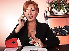 Horny Mia Isabella having a hot day at the office