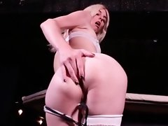 Mandy Teases You into Sucking Her Hard Throbbing Dick at the Bar! Lick Her Ass while you're at it too!