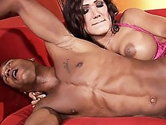 Exotical Shemale Mariam Banging Ebony Billy Hard