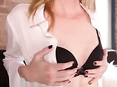 Mandy gets blackmails a nasty co-worker by seducing him into submission to her hard throbbing cock