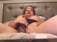Watch Wendy Jack Her Tranny Juice Off Her Cock in a Skype to Skype Video Call