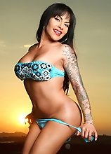 Gorgeous Foxxy strips in sunet